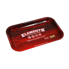 Поднос ELEMENTS Red Metal Rolling Tray - SMALL